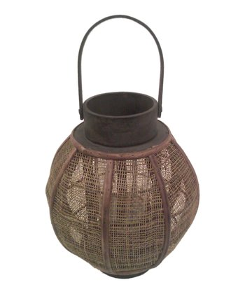 Hanging Spherical Jute Lantern