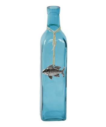 Blue Fish Pendant Bottle