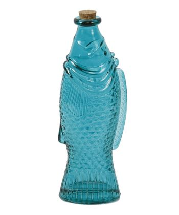 Teal Fish Bottle