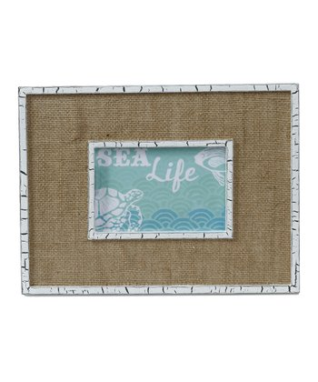 White & Burlap Picture Frame