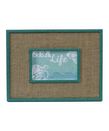 Teal & Burlap Picture Frame