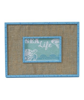 Light Blue & Burlap Picture Frame
