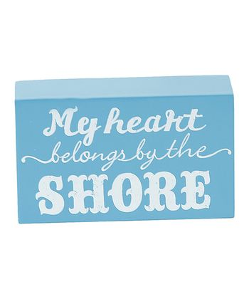 'My Heart Belongs to the Shore' Box Sign