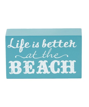 'Life Is Better at the Beach' Box Sign
