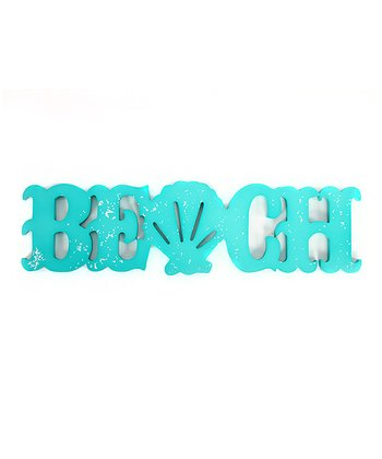 Seashell 'Beach' Sign