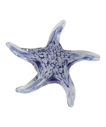 Royal Blue Swirl Artglass Starfish Figurine