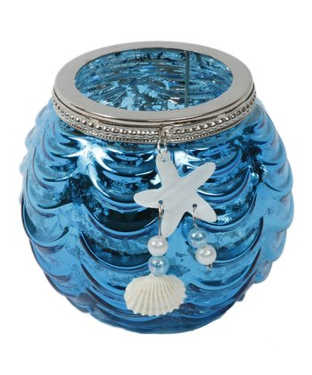 Blue Starfish Short Candleholder