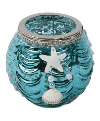 Aqua Starfish Short Candleholder