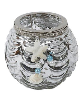 Silver Starfish Short Candleholder