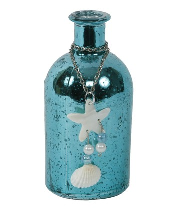 Teal Seashell Chain Bottle