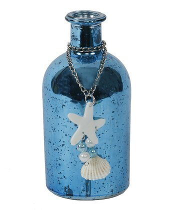 Blue Seashell Chain Bottle
