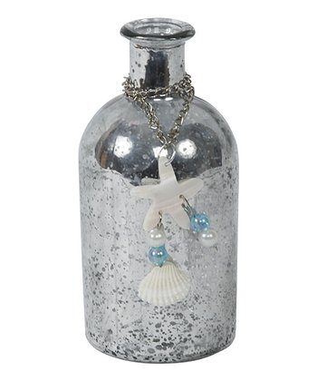 Silver Seashell Chain Bottle