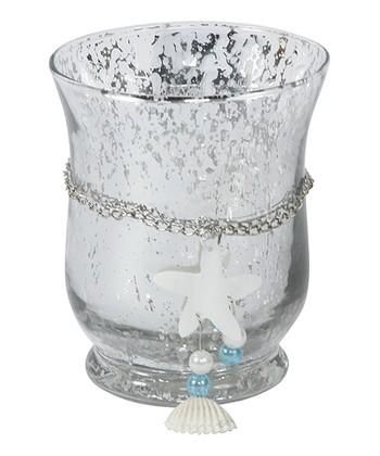 Silver Starfish Hurricane Candleholder