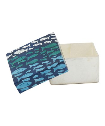 Blue Fish Covered Box
