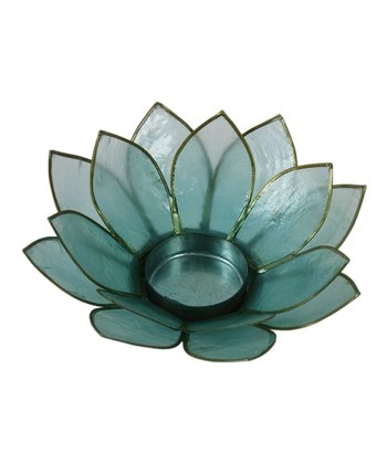 Teal Lotus Tealight Holder