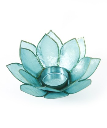 Aqua Lotus Tealight Holder