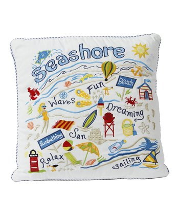 Retro Summer Vacation Pillow