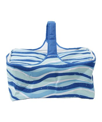 Blue Swirl Picnic Basket