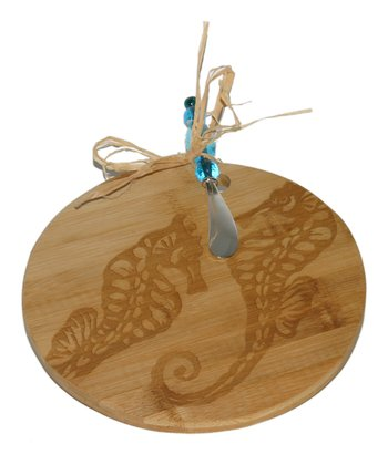Seahorse Cheese Board & Beaded Knife
