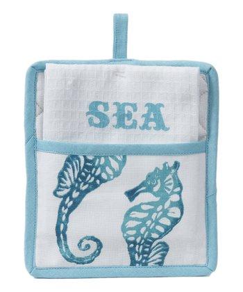 Seahorse Pot Holder & Towel