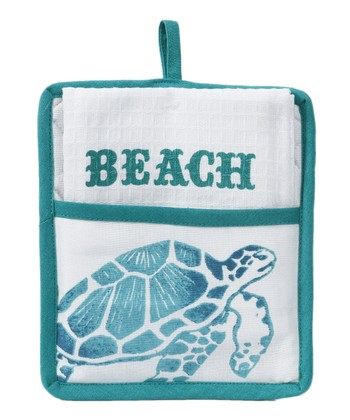 Turtle Pot Holder & Towel