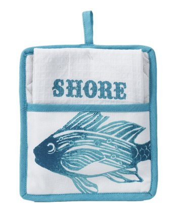Fish Pot Holder & Towel