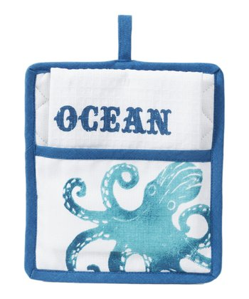 Octopus Pot Holder & Towel