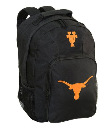 Texas Longhorns Black Southpaw Backpack