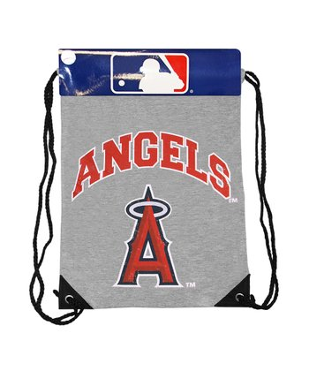 Gray Los Angeles Angels Practice Drawstring Backpack