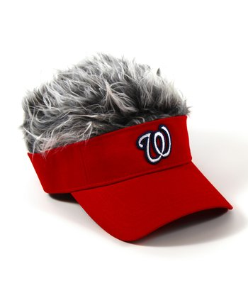 Red Washington Nationals Crazy Visor