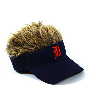 Navy Detroit Tigers Crazy Visor