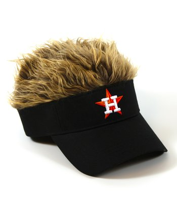 Black Houston Astros Crazy Visor