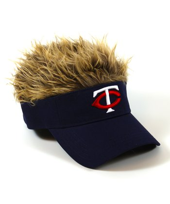 Navy Minnesota Twins Crazy Visor