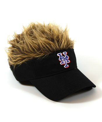 Black New York Mets Crazy Visor