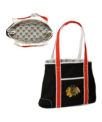 Concept One Black Chicago Blackhawks Hampton Tote