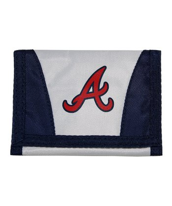 Navy Atlanta Braves Chamber Wallet
