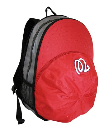 Red Washington Nationals Heads Up Backpack