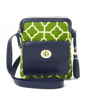 Spartina 449 Green & White Martinangel Shoulder Bag