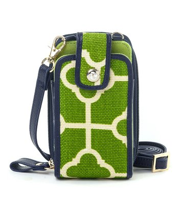 Spartina 449 Green & White Martinangel Cell Phone Crossbody Bag