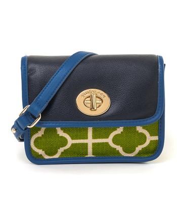 Spartina 449 Green & White Martinangel Color Block Mini Crossbody Bag