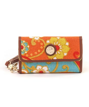 Spartina 449 Red & Orange Fiddler's Cove Phone Wristlet
