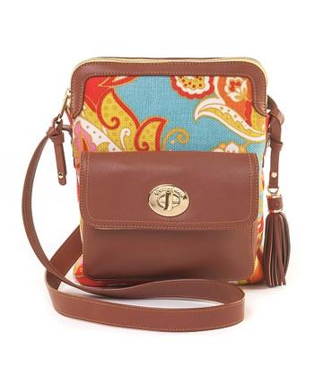 Spartina 449 Red & Orange Fiddler's Cove Shoulder Bag