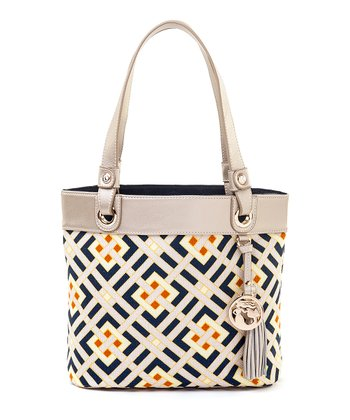 Spartina 449 Navy & Gold Harbor Light Day Tote