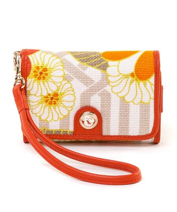 Spartina 449 Pink & Orange Tibi Soli Phone Wallet