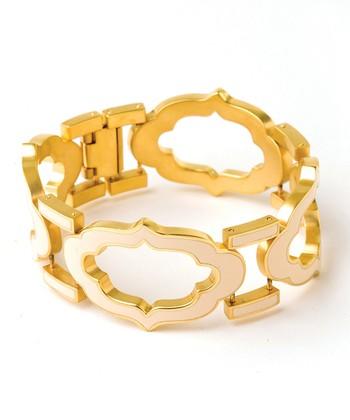 Spartina 449 Gold & Cream Signature Cartouche Bracelet