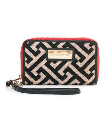 Spartina 449 Black & Cream Callahan Zip Phone Wallet