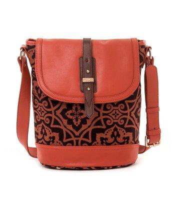 Spartina 449 Orange & Brown Maggioni Saddle Shoulder Bag