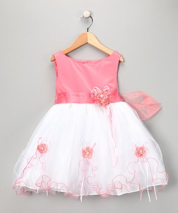 Coral Party Dress - Toddler & Girls