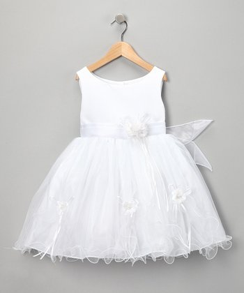 White Rose Dress - Toddler & Girls