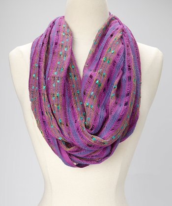 Electric Plum Surfing Safari Slub Infinity Scarf